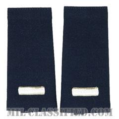 中尉(First Lieutenant (1LT))[空軍ブルー/ショルダー階級章/ロングサイズ肩章/ペア(2枚1組)]の画像