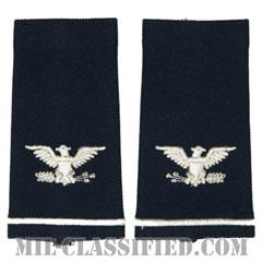 大佐(Colonel (COL))[空軍ブルー/ショルダー階級章/ロングサイズ肩章/ペア(2枚1組)]の画像