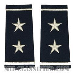 少将(Major General (MG))[空軍ブルー/ショルダー階級章/ロングサイズ肩章/ペア(2枚1組)]の画像