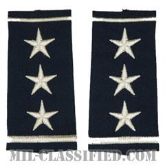 中将(Lieutenant General (LTG))[空軍ブルー/ショルダー階級章/ロングサイズ肩章/ペア(2枚1組)]の画像
