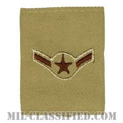 二等空兵(Airman)[デザート(Desert)/ゴアテックスパーカー用スライドオン空軍階級章]の画像