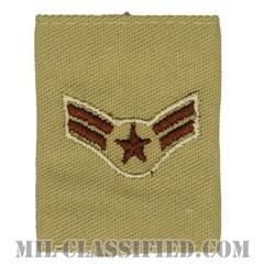 一等空兵(Airman First Class)[デザート(Desert)/ゴアテックスパーカー用スライドオン空軍階級章]の画像
