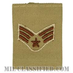 上等空兵(Senior Airman)[デザート(Desert)/ゴアテックスパーカー用スライドオン空軍階級章]の画像