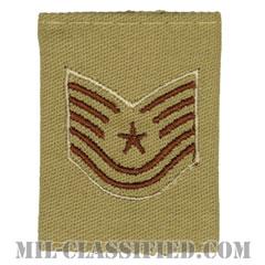 技能軍曹(Technical Sergeant)[デザート(Desert)/ゴアテックスパーカー用スライドオン空軍階級章]の画像