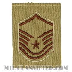 曹長(Master Sergeant)[デザート(Desert)/ゴアテックスパーカー用スライドオン空軍階級章]の画像
