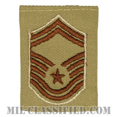 上級曹長(Senior Master Sergeant)[デザート(Desert)/ゴアテックスパーカー用スライドオン空軍階級章]の画像
