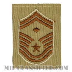 先任上級曹長(First Sergeant (E-8))[デザート(Desert)/ゴアテックスパーカー用スライドオン空軍階級章]の画像