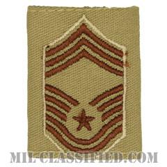 最上級曹長(Chief Master Sergeant)[デザート(Desert)/ゴアテックスパーカー用スライドオン空軍階級章]の画像