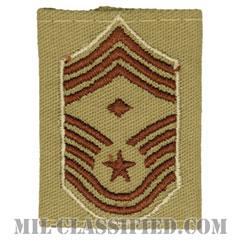 先任最上級曹長(First Sergeant (E-9))[デザート(Desert)/ゴアテックスパーカー用スライドオン空軍階級章]の画像