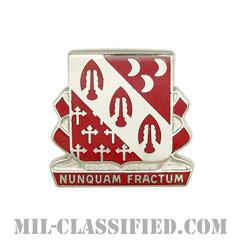 第7野戦砲兵連隊第1大隊(1st Battalion, 7th Field Artillery Regiment)[カラー/クレスト(Crest・DUI・DI)バッジ]の画像