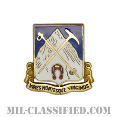 第87歩兵連隊(87th Infantry Regiment)[カラー/クレスト(Crest・DUI・DI)バッジ]の画像
