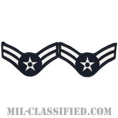 一等空兵(Airman First Class)[カラー/メロウエッジ/空軍階級章(1991-)/Large(男性用)/パッチ/ペア(2枚1組)]の画像