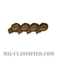 オークリーフクラスター4 (ブロンズ)(Oak Leaf Cluster, 4, Bronze)[リボン用デバイス(Attachment Device)]の画像