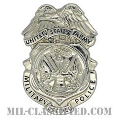 憲兵章 (引退者用)(Retired, Military Police Badge)[カラー/鏡面仕上げ/バッジ/ピンバック]の画像