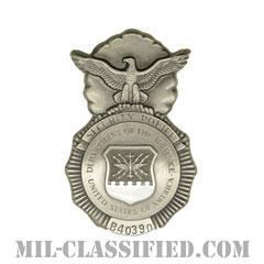 空軍警備隊章 (セキュリティーポリス)(Security Forces Badge, Security Police Badge)[カラー/燻し銀/バッジ/ミニサイズ/ピンバック]の画像