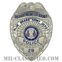 アメリカ合衆国陸軍省民間警察章 (ブルーグラスアーミーデポ)(BGAD, Department of the Army Civilian Police)[カラー/鏡面仕上げ/バッジ/ピンバック]の画像
