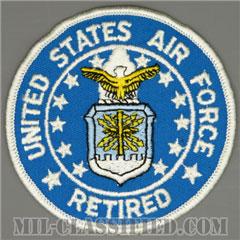 アメリカ空軍退役(UNITED STATES AIR FORCE RETIRED)[カラー/メロウエッジ/パッチ]の画像
