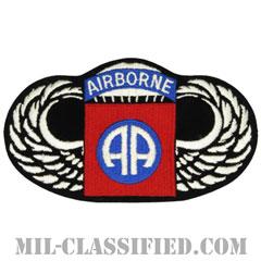 第82空挺師団空挺章(82nd Airborne Division Parachutist)[カラー/メロウエッジ/ラージサイズ/パッチ]の画像