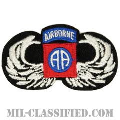 第82空挺師団空挺章(82nd Airborne Division Parachutist)[カラー/メロウエッジ/スモールサイズ/パッチ]の画像