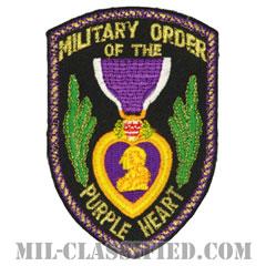 パープルハート章(MILITARY ORDER OF THE PURPLE HEART)[カラー/カットエッジ/パッチ]の画像