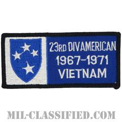 第23歩兵師団ベトナム戦争ベテラン(23RD DIV AMERICAN 1967-1971 VIETNAM)[カラー/メロウエッジ/パッチ]の画像