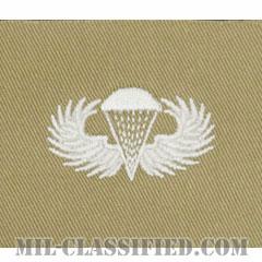 空挺章 (ベーシック)(Parachutist Badge, Basic)[カラー/カーキ生地/コットンツイル/パッチ/レプリカ]の画像