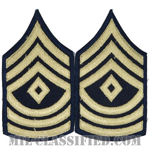 先任曹長(First Sergeant)[ツイル生地刺繍タイプ/カットエッジ/階級章(1942-1948)/パッチ/ペア2枚1組]の画像