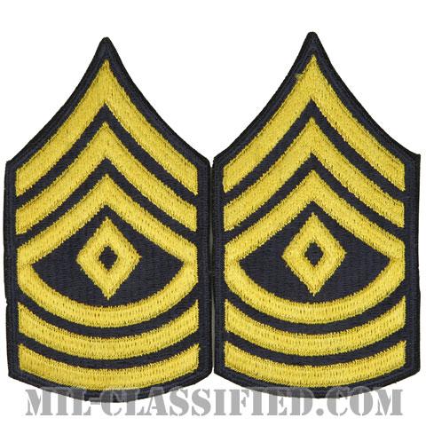 先任曹長(First Sergeant (1SG))[カラー(ブルー)/カットエッジ/階級章(1959-)/パッチ/ペア2枚1組]の画像