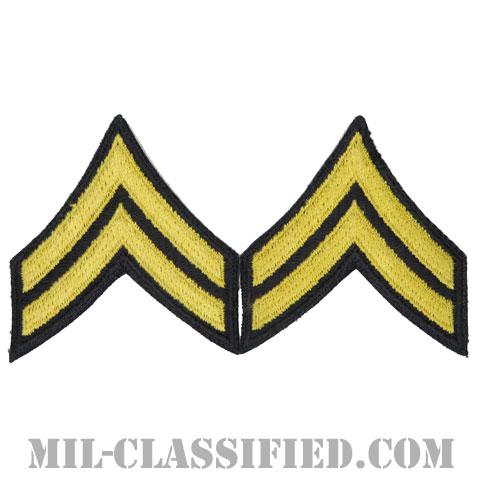 伍長(Corporal (CPL))[カラー(ブルー)/カットエッジ/階級章(1959-)/パッチ/ペア2枚1組]の画像