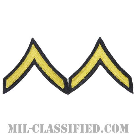 一等兵(Private Second Class (PV2))[カラー(ブルー)/カットエッジ/階級章(1959-)/パッチ/ペア2枚1組]の画像