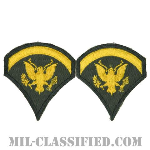 特技兵 (SP5)(Specialist 5)[カラー/カットエッジ/階級章(1959-1985)/パッチ/ペア2枚1組]の画像