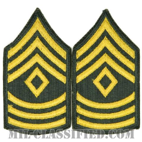 先任曹長(First Sergeant (1SG))[カラー/女性用/カットエッジ/階級章(1959-)/パッチ/ペア2枚1組]の画像