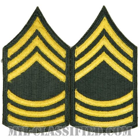 曹長(Master Sergeant (MSG))[カラー/女性用/カットエッジ/階級章(1959-)/パッチ/ペア2枚1組]の画像