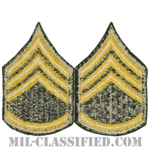 二等軍曹(Staff Sergeant (SSG))[カラー/女性用/カットエッジ/階級章(1959-)/パッチ/ペア2枚1組]