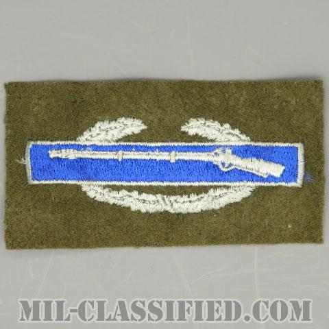 戦闘歩兵章 (ファースト)(Combat Infantryman Badge (CIB), First Award)[カラー/ウール生地/パッチ/1点物]の画像