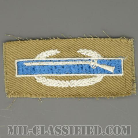 戦闘歩兵章 (ファースト)(Combat Infantryman Badge (CIB), First Award)[カラー/カーキ生地/パッチ/1点物]の画像
