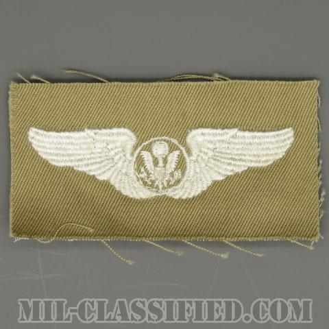 航空機搭乗員章 (エアクルー)(Air Force Aircrew Badge)[カラー/カーキ生地/パッチ/1点物]の画像