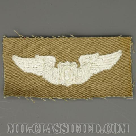 グライダー操縦士章(Glider Pilot Badge)[カラー/カーキ生地/パッチ/1点物]の画像
