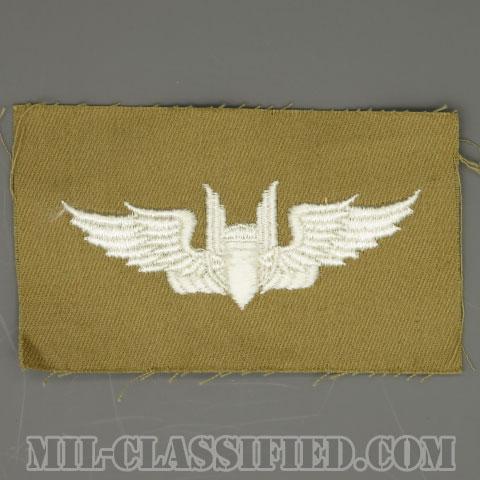 機上射手章 (エアガンナー)(AAF Air Gunner Wing Badge)[カラー/カーキ生地/パッチ/1点物]の画像