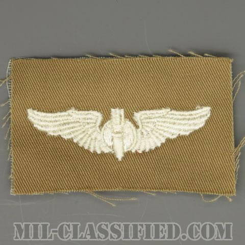 爆撃手章 (ボンバルディア)(AAF Bombardier Wing)[カラー/カーキ生地/パッチ/1点物]の画像