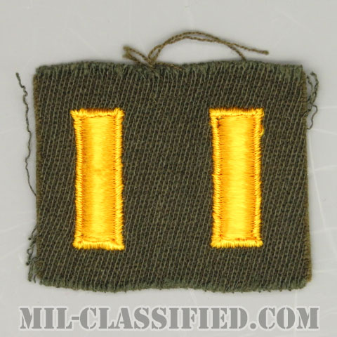 少尉(Second Lieutenant (2LT))[カラー/ギャバジン生地/階級章/パッチ/ペア2枚1組/1点物]の画像