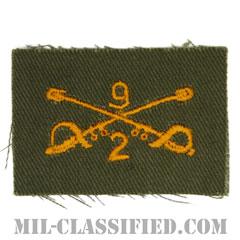 第9騎兵連隊第2大隊騎兵科章(2nd Squadron, 9th Cavalry Regiment, Cavalry Branch Insignia)[カラー/兵科章/パッチ/1点物]の画像