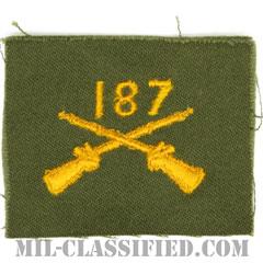 第187歩兵連隊歩兵科章(187th Infantry Regiment, Infantry Branch Insignia)[カラー/兵科章/パッチ/1点物]の画像