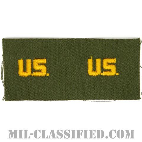 U.S.章(U.S. Letters)[カラー/兵科章/パッチ/ペア2枚1組]の画像