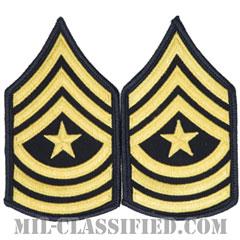 上級曹長(Sergeant Major (SGM))[カラー(ブルー)/階級章(女性用)/1996-/パッチ/ペア(2枚1組)]の画像