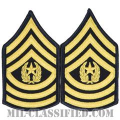 最上級曹長(Command Sergeant Major (CSM))[カラー(ブルー)/階級章(女性用)/1996-/パッチ/ペア(2枚1組)]の画像