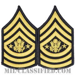 陸軍最先任上級曹長(Sergeant Major of the Army (SMA))[カラー(ブルー)/階級章(女性用)/1996-/パッチ/ペア(2枚1組)]の画像
