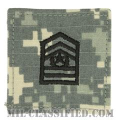 最先任上級曹長 (士官学生用)(Cadet, Command Sergeant Major (CSM))[UCP(ACU)/階級章/ベルクロ付パッチ]の画像