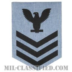 一等兵曹(Petty Officer First Class)[シャンブレーシャツ/海軍階級章(男性用)/アイロンパッチ]の画像