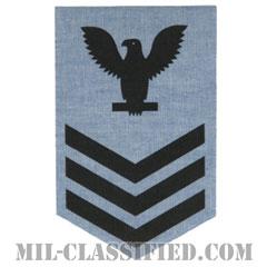 一等兵曹(Petty Officer First Class)[シャンブレーシャツ/海軍階級章(女性用)/アイロンパッチ]の画像